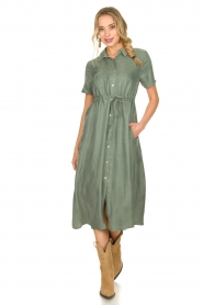 JC Sophie |  Dress with drawstring Cameo | green  | Picture 3
