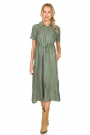 JC Sophie |  Dress with drawstring Cameo | green  | Picture 2