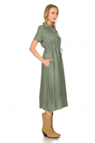 JC Sophie |  Dress with drawstring Cameo | green  | Picture 4