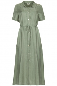 JC Sophie |  Dress with drawstring Cameo | green  | Picture 1