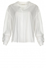 JC Sophie |  Blouse with bow detail Cappuccino | white  | Picture 1