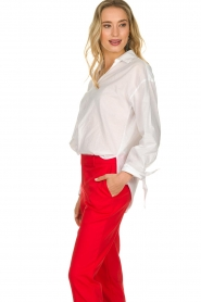 JC Sophie |  Blouse with bow detail Cappuccino | white  | Picture 5