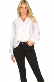 JC Sophie |  Blouse with bow detail Cappuccino | white  | Picture 4