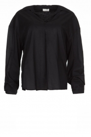 JC Sophie |  Blouse with bow detail Cappuccino | black  | Picture 1