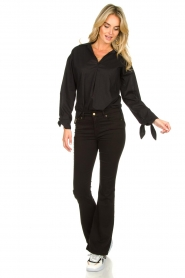 JC Sophie |  Blouse with bow detail Cappuccino | black  | Picture 3