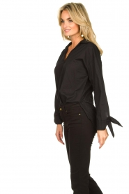 JC Sophie |  Blouse with bow detail Cappuccino | black  | Picture 6