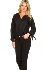 JC Sophie |  Blouse with bow detail Cappuccino | black  | Picture 4