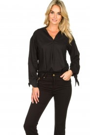 JC Sophie |  Blouse with bow detail Cappuccino | black  | Picture 5