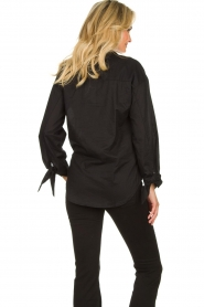 JC Sophie |  Blouse with bow detail Cappuccino | black  | Picture 7