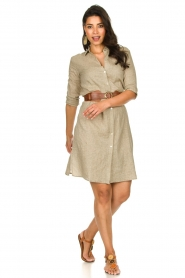 JC Sophie |  Blouse dress Cecily | brown  | Picture 3