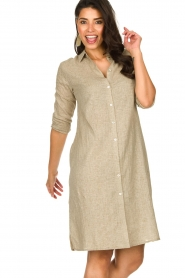 JC Sophie |  Blouse dress Cecily | brown  | Picture 2