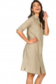 JC Sophie | Blouse jurk Cecily | bruin   | Afbeelding 6
