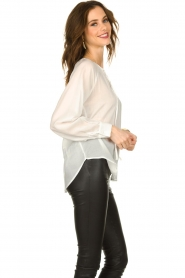 JC Sophie |  See-through blouse with bow | white  | Picture 4