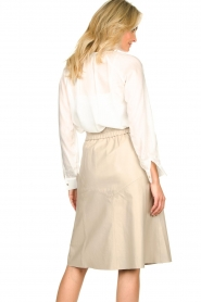 JC Sophie |  See-through blouse with bow | white  | Picture 5