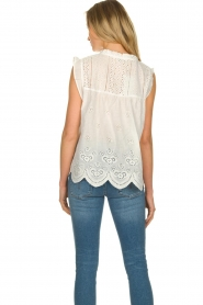 JC Sophie | Broderie blouse Chassie | wit   | Afbeelding 6
