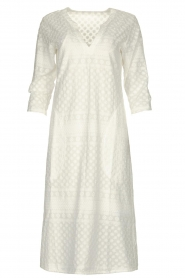 JC Sophie |  Embroidered midi dress Chelsea | white  | Picture 1