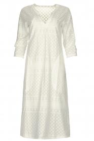 JC Sophie | Midi jurk met borduursels Chelsea | wit  | Afbeelding 1