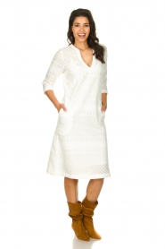JC Sophie |  Embroidered midi dress Chelsea | white  | Picture 3