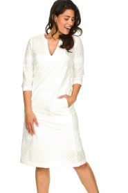 JC Sophie |  Embroidered midi dress Chelsea | white  | Picture 4