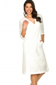 JC Sophie |  Embroidered midi dress Chelsea | white  | Picture 2