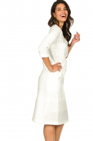 JC Sophie |  Embroidered midi dress Chelsea | white  | Picture 5