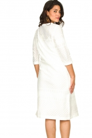 JC Sophie |  Embroidered midi dress Chelsea | white  | Picture 6