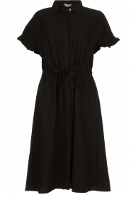 JC Sophie |  Dress with ruffles Cheryl | black  | Picture 1