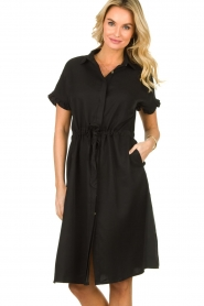 JC Sophie |  Dress with ruffles Cheryl | black  | Picture 2