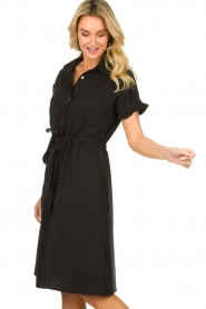 JC Sophie |  Dress with ruffles Cheryl | black  | Picture 6