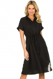 JC Sophie |  Dress with ruffles Cheryl | black  | Picture 5