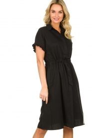 JC Sophie |  Dress with ruffles Cheryl | black  | Picture 4