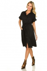 JC Sophie |  Dress with ruffles Cheryl | black  | Picture 3