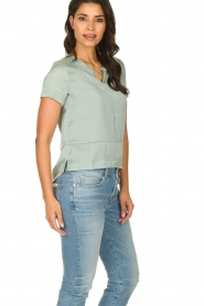 JC Sophie |  Satin blouse Chili | green  | Picture 4