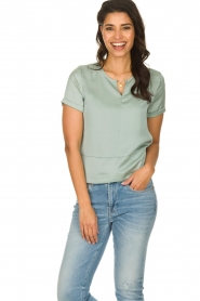 JC Sophie |  Satin blouse Chili | green  | Picture 2