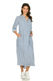 JC Sophie |  Printed maxi dress Christen | blue  | Picture 2