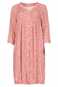 JC Sophie |  Midi dress with flower print Christiana | red  | Picture 1