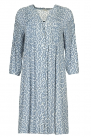 JC Sophie |  Midi dress with flower print Christiana | blue  | Picture 1