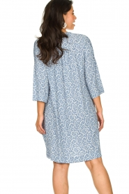 JC Sophie |  Midi dress with flower print Christiana | blue  | Picture 5