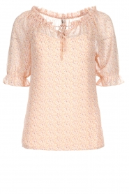 JC Sophie |  Blouse with floral print Christina | pink  | Picture 1