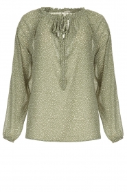 JC Sophie |  Blouse with polka dots print Christobel | green  | Picture 1
