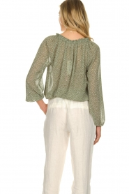 JC Sophie |  Blouse with polka dots print Christobel | green  | Picture 7