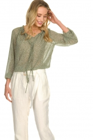 JC Sophie |  Blouse with polka dots print Christobel | green  | Picture 4