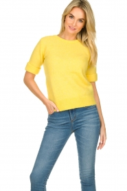 JC Sophie |  Sweater with short sleeves Cardiff | yellow  | Picture 2
