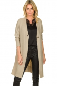 JC Sophie |  Knitted cardigan Caresse | beige  | Picture 2