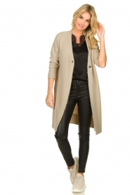 JC Sophie |  Knitted cardigan Caresse | beige  | Picture 3