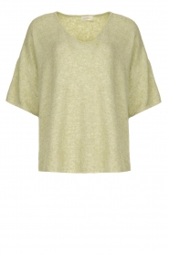 JC Sophie |  Sweater with short sleeves Carnation | green  | Picture 1