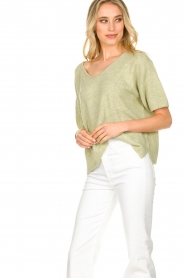 JC Sophie |  Sweater with short sleeves Carnation | green  | Picture 5