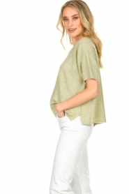 JC Sophie |  Sweater with short sleeves Carnation | green  | Picture 6