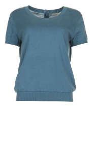 JC Sophie |  Sweater with short sleeves Carole | blue  | Picture 1