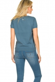 JC Sophie |  Sweater with short sleeves Carole | blue  | Picture 5